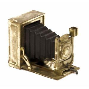 Miniature Die Cast Metal Gold Antique Camera Pencil Sharpener Vintage Hong Kong