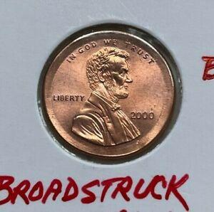 2000 Lincoln Memorial Cent - Broadstrike Broadstruck Error