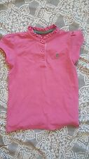 LITTLE JOULES pink RUFFLES polo top SHIRT SIZE 8