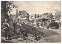 """Propaganda Postkarte """"Vormarsch des XII. A.K."""", gelaufen 26.04.1944"""