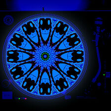 Portable Products Dj Turntable Slipmat 12 inch Glow under Blacklight - Toon Eyes