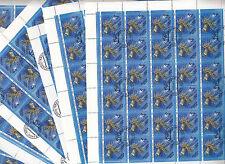 CCCP URSS 33 feuille faune de la Mer Noire Anémone 5 k 1991