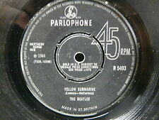 THE BEATLES Yellow submarine /eleanor rigby PARLOPHONE R5493 UK Grav : 7XCE18395