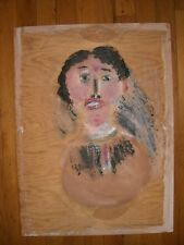 JIM SUDDUTH FOLK ART PAINTING WOMAN PORTRAIT VINTAGE