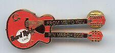 Hard Rock Cafe Malta Pin March 2002 Guitar