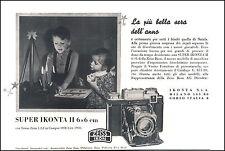 PUBBLICITA' ZEISS SUPER IKONTA II 6X6 MACCHINA FOTOGRAFICA ESPOSIMETRO  1940