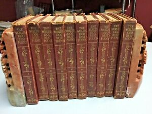 The World's One Thousand Best Poems, 1929, FUNK & WAGNALLS , Complete 10-Vol Set