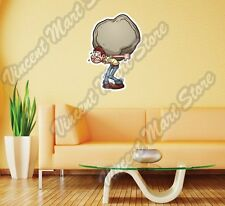 "Man Hold Big Heavy Stone Rock Gift Wall Sticker Room Interior Decor 18""X25"""