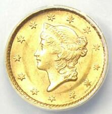 1853 Liberty Gold Dollar Coin G$1 - Certified ANACS MS60 (UNC) - Rare Coin!
