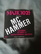 Majic 102.5 Mc Hammer backstage pass Buffalo Aud Vip All Access Cavages Concert
