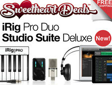 IK Multimedia iRig Pro Duo Studio Suite Deluxe Recording Bundle for PC MAC iOS