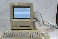 Vintage Upgraded Apple Machintosh SE FDHD + Keyboard, Mouse, Books, Case - Retro