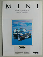 Prospekt Rover Mini Mayfair Sport / Special / Racing, ca.1990, 6 Seiten, folder