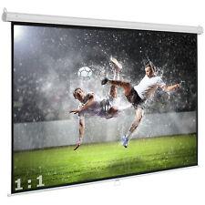 Avlux Economy Heimkino Beamer Rolloleinwand 220 x 220 cm 1:1 FULL HD 3D  4K VP24