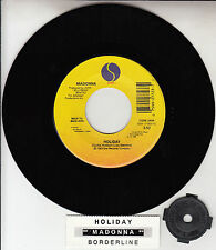 "MADONNA  Holiday & Borderline 7"" 45 rpm vinyl record NEW + juke box title strip"