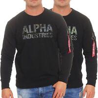Alpha Industries Herren Pullover Sweatshirt Pulli Sweater Rundhals176301