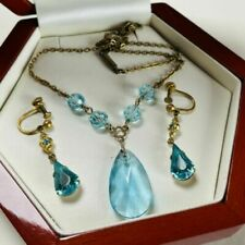 Crystal Gold Plated Art Deco Costume Jewellery