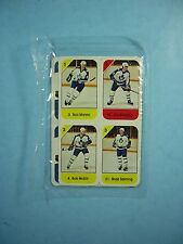 1982/83 POST CEREAL NHL HOCKEY MINI CARD PANEL TORONTO MAPLE LEAFS RICK VAIVE