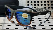 69442ba0a4576 New Costa del Mar COPRA Sunglasses COP 52 Matte Black w  Blue 580p Polarized