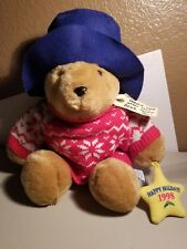 Paddington Bear Plush - Happy Holidays 1998 - Sears