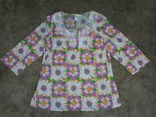 Women's 10 Palm Island New Tropical Floral Tunic Shirts bright lilly boutique