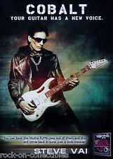 Steve Vai Ernie Ball Cobalt Strings Original Promo Poster