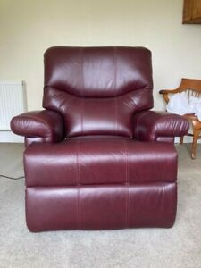 Sherborne leather electric recliner chair, excellent condition