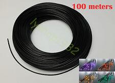 Durable black optical fiber cable 3mmx100m solid fiber optic for star light deco