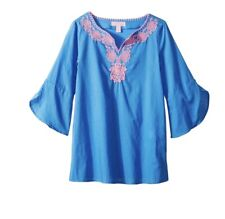 EUC Lilly Pulitzer Toddler Girls Mini Piet Bennet Blue Cover Up Small 4-5