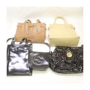 Gucci Leather Enamel Hand/Shoulder Bag 5 pieces set 525424