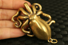 Chinese brass hand casting octopus statue collectable Car key netsuke