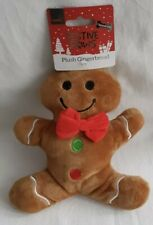 Christmas - Plush Gingerbread Man - Squeaky - Dog Toy - Brand New
