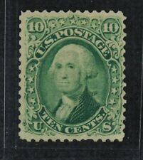 CKStamps: US Stamps Collection Scott#68 10c Washington Mint H OG CV$950