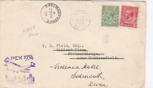 GB 1934 GEORGE V COVER HERNE HILL TO SKELMANTHORPE WITH APEX 1934 CANCEL