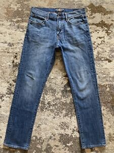 Men's LUCKY BRAND 410 ATHLETIC FIT BLUE JEANS - Tag Size 34 x 34~ Actual 34 x 33