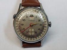 PIERPONT Triple Date Full Calendar Hand-Wind Watch Rare 1950's