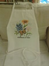 Fame apron Wildflowers of Texas, one size fits all, brand new tags, white,unisex