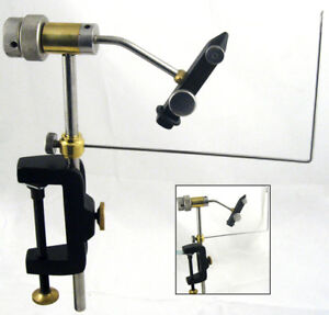 FULLY ROTATABLE FLY TYING VICE WITH  BOBBIN CRADLE