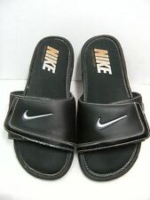 Nike Mens Slippers Size 9 Slip on w/ Adjustable width Black #17 B