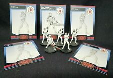 "Wizards Coast Star Wars Miniature Lot of 5 AT-TE Driver Clone Repeating 1.5"" RPG"