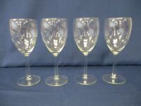 4 x White Wine Stemmed Drinking Glasses, Contemporary Modern - 18 cm Tall