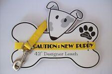 "MUD PUPPIES New Puppy Dog Leash 42"" Plastic Yellow"