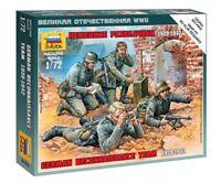 Zvezda 6153, 1:72, WWII, Deutscher Späh Trupp, 4 Figuren mit Zubehör, Plastikmod