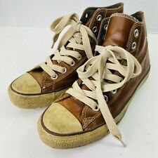 Converse All-Star Leather Hi-Top Men's size 9.5 (Brown)