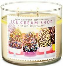 Bath & Body Works Ice Cream Shop 3 Wick Candle ~ LOT OF 2 ~ Ships Free!!!