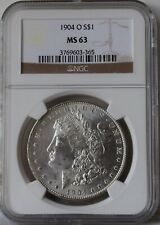 """1904-O Morgan Silver Dollar """"NGC MS63"""" *Free S/H After 1st Item*"""