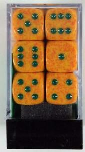 Chessex Speckled Dice d6 16mm Lotus (12) New