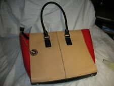 Charles Jourdan Paris a 3 tone colours Leather Shoulder bag new with tag