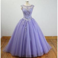 Lilac Quinceanera Dress Appliques Sequins Ball Formal Prom Evening Dress Custom