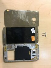 Samsung Galaxy S6 Gold Housing Frame - No MOTHERBOARD - Parts Only